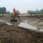 Het graven van een natuurlijke vijver 5