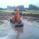 Het graven van een natuurlijke vijver 7